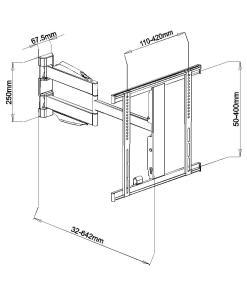 """32""""-55"""" Slimline Cantilever TV Bracket (SCLSS01) 7"""