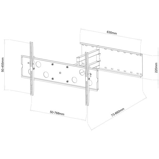 "40""-60""+ Slimline Corner Mounting Cantilever TV Bracket (SCLSS07) 2"