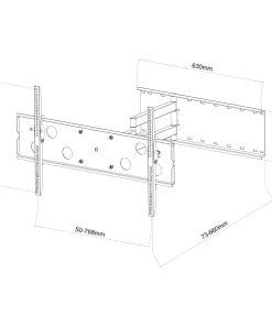 "40""-60""+ Slimline Corner Mounting Cantilever TV Bracket (SCLSS07) 8"