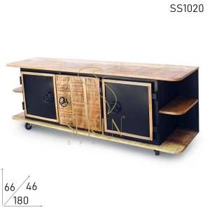 SS1020 Suren Space Movable Locker Shape Retro Entertainment Unit