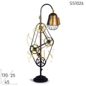 SS1026 Suren Space Rustic Design Cycle Part Floor Lamp