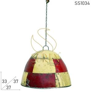 SS1034 Suren Space Old Polish Recycled Hanging Lamp Design