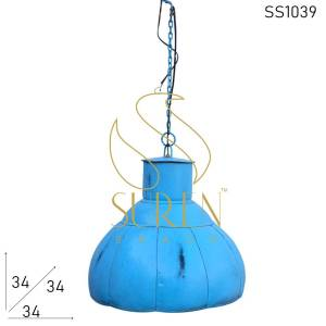 SS1039 Suren Space Jodhpur Blue Decorative Lamp Design for Hospitality Space