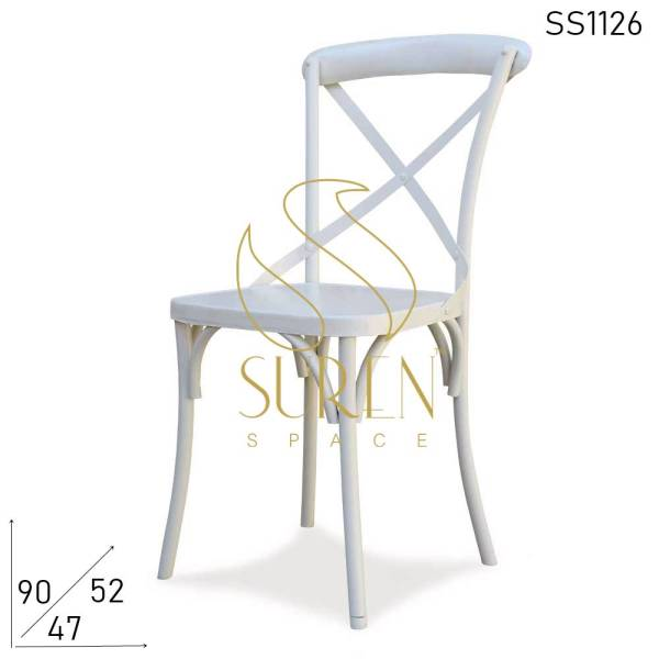 SS1126 Suren Space Cross Back Metal Event Wedding Party Sedia banchetto