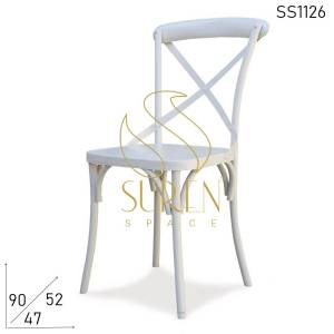 SS1126 Suren Space Cross Back Metal Event Wedding Party Banquet Chair