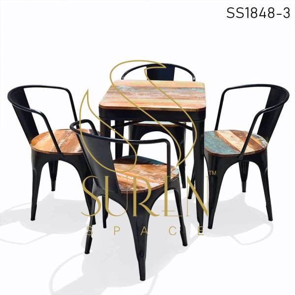 SS1851 Suren Space Metal Stackable Chairs Table Cantine Set