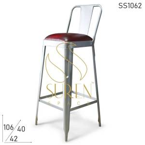 SS1062 Suren Space Compact Design Metal Finish Brewery Bar Chair