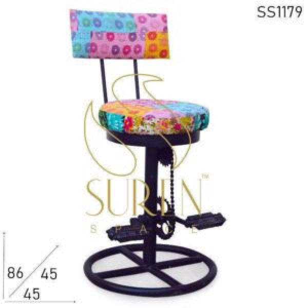 SS1179 Suren Space Traditional Fabric Industrial Cycle Part Funky Chair