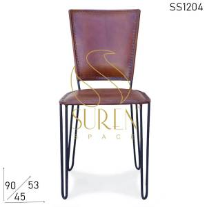 SS1204 Suren Space Leather Polo Chair With Metal Structure