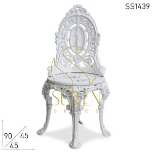 SS1440 Suren Space Cast Iron Baroque Style Chair Furniture