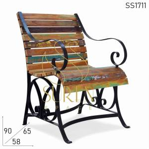 SS1711 Suren Space Reclaimed Old Wood Resort Reststuhl