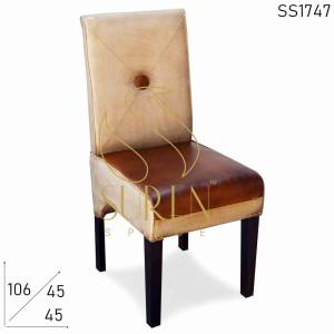 SS1747 Suren Space Canvas Leather Upholstered Restaurant Chair