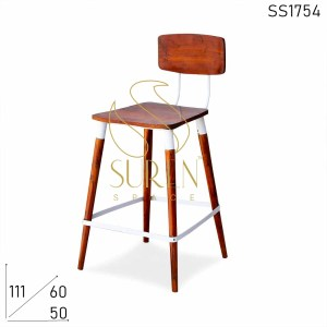 SS1754 Suren Space Solid Wood Industrial Bar Pub Chair Design