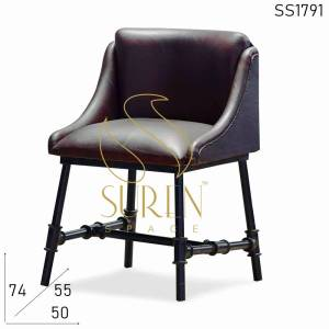 SS1791 Suren Space Compact Design Metal Leather Modern Chair