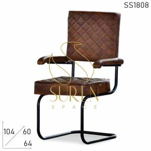 SS1808 Suren Space Old Office Design Leather Handrest Chair