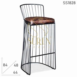 SS1828 Suren Space Metal Frame Leather Seat Bar Pub Stylish Chair
