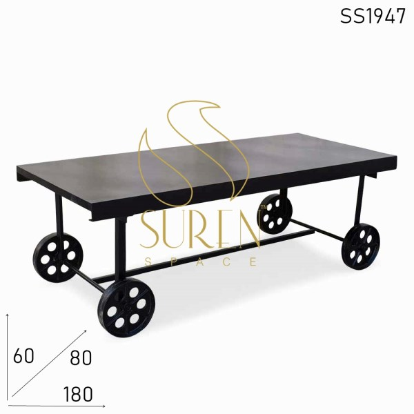 SS1947 Suren Space Casting Wheel Outdoor Low Height Dining Table