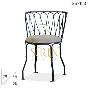SS2153 Suren Space Bent Metal Artistic Hotel Resort Outdoor Chair