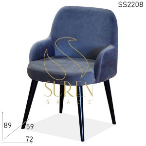 SS2208 Suren Space Velvet Metal Frame Classic Hotel Room Accent Chair