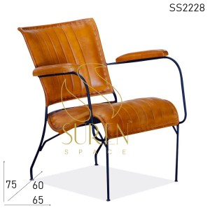SS2228 Suren Space Leather iron Rest Chair