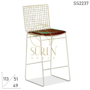 SS2237 Suren Space Metal Frame Bar Pub Chair Design