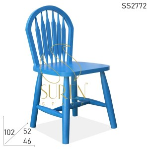 SS2772 Suren Space Jodhpur Blue Solid Wood Designer Chair