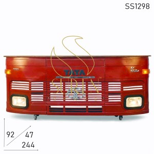 SS1298 Suren Space Old Indian Truck Style Bar Cum Reception Counter