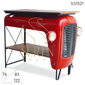 SS1521 Suren Space Tractor Style Automobile Console Table Cum Display Cabinet
