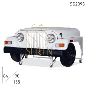 SS2098 Suren Space Jeep Style Unique Reception Counter Cum Study Table