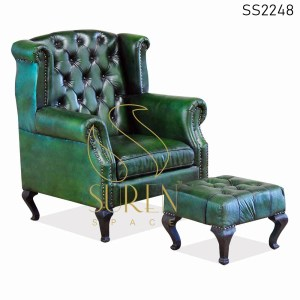 SS2248 Suren Space Tufted leather Restaurant Sofa