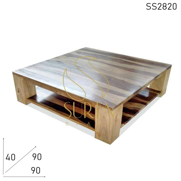 SS2820 Suren Space Indian Rosewood Natural Finish Solid Leg Coffee Center Table