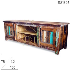 SS1356 Suren Space Old Boat Wood Resort Room TV Cabinet Furniture