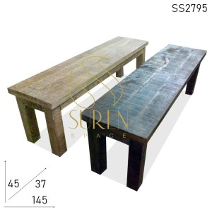 SS2795 Mango Wood Solid Wood Benches Design