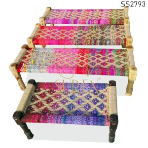 SS2793 SUREN SPACE Handcrafted Indian Charpai Cum Cots Designs