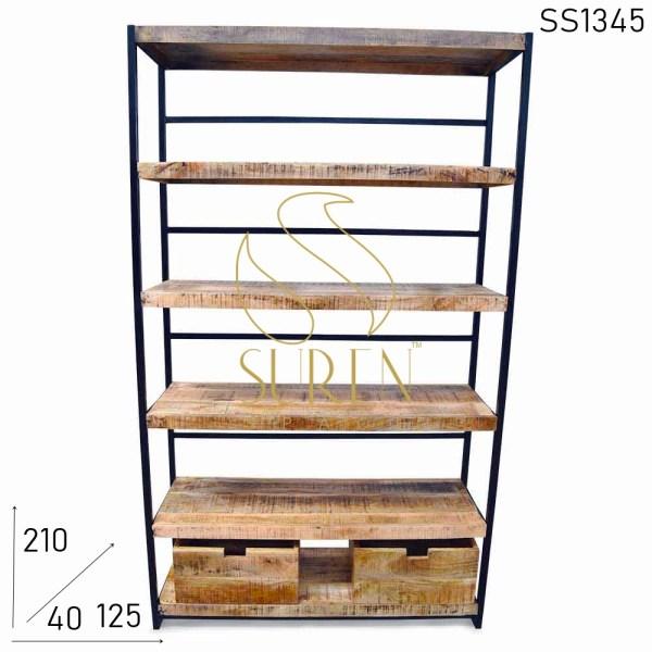 SS1345 Suren пространства промышленного стиля Коммерческий книжный шкаф Дизайн