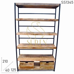 SS1345 Suren Space Industrial Style Commercial Bookcase Design