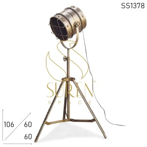SS1378 SUREN SPACE Nickle Folding Industrial Floor Lamp Design