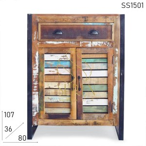 SS1501 SUREN SPACE Truly Indian Handmade Design Multicolored Cabinet