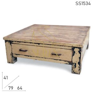SS1534 Suren Space Distress Finish Solid Wood One Drawer Bajot