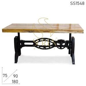 SS1548 Suren Space Cast Iron Adjustable Regular & Bar Height Multipurpose Table