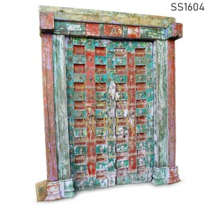 SS1604 Suren Space One of Kind Hand Carved Indian Door For Camps