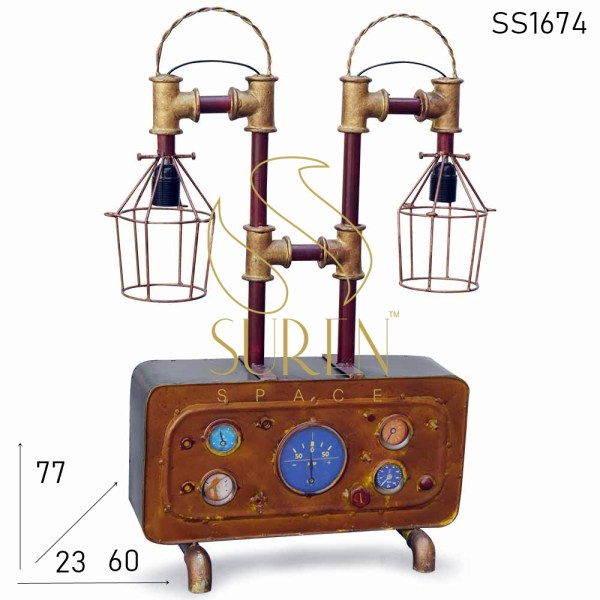 SS1674 SUREN SPACE Brass Finish Upcycle Design Table Lamp