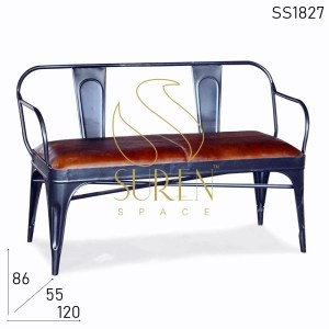 SS1827 Suren Space Hand Rest Metal Base Restaurant Bench