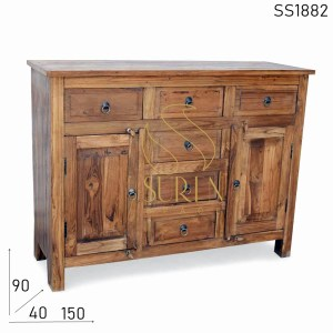 SS1882 Suren Space Old Teak Indian Crafted Sideboard