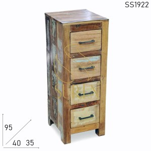 SS1922 Suren Space Four Drawer Reclaimed Wood Cabinet Design