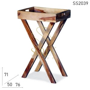 SS2039 Suren Space Solid Indian Wood Hotel Room Side Table