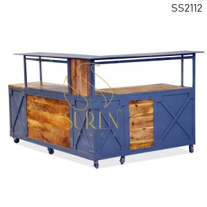 SS2112 Suren Space Indusrtiral Design Solid Wood Reception Counter