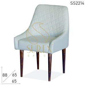 SS2214 Suren Space White Leather Fine Dine Modern Chair