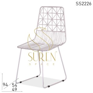 SS2226 Suren Space Bent Metal Handcrafted Outdoor Chair