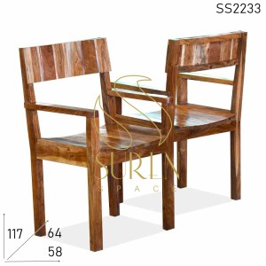 SS2233 Suren Space Reclaimed Wood Hand Rest Design Outdoor Resort Chair